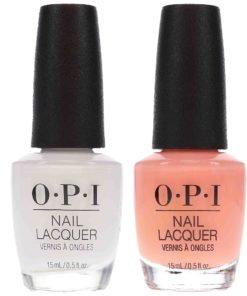 OPI Coney Island Cotton Candy 0.5 oz & Alpine Snow 0.5 oz Nude French Combo Pack