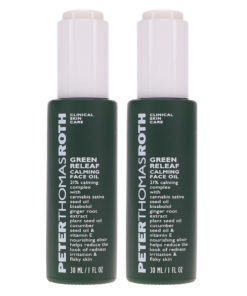 Peter Thomas Roth Green Releaf Calming Face Oil 1 oz 2 Pack