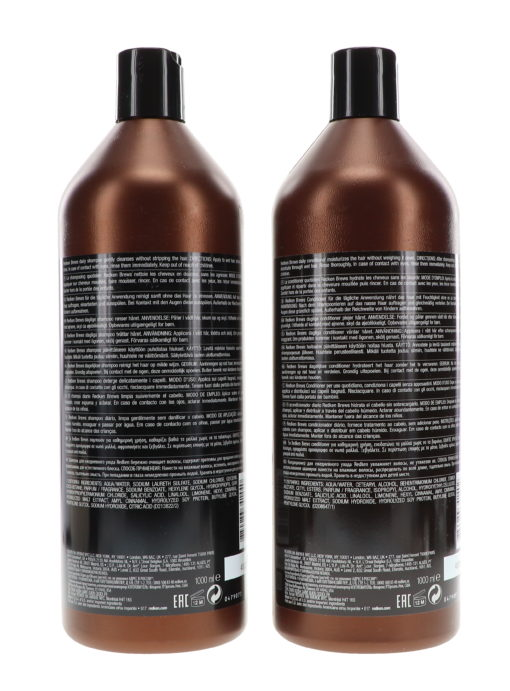 Redken Brews Daily Shampoo 33.8 oz & Daily Conditioner 33.8 oz Combo Pack