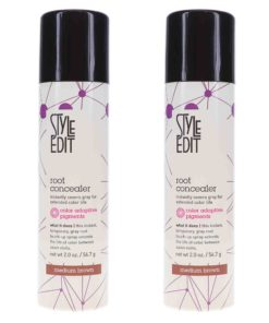 Style Edit Medium Brown Root Concealer Touch Up Spray 2 oz 2 Pack