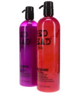 TIGI Bed Head Dumb Blonde Shampoo 25.36 oz & Dumb Blonde Conditioner 25.36 oz Combo Pack