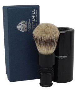 Truefitt & Hill Ebony Turnback Traveler Badger Hair Brush